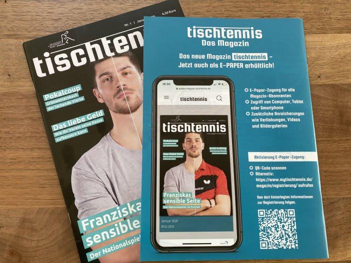 Bottega Design Referenz Illustration Werbeanzeigen Print im tischtennis Magazin