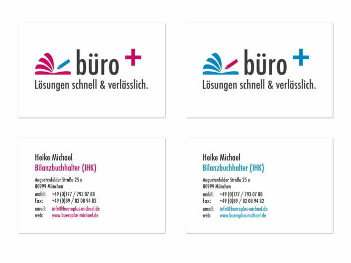 Bottega Design Referenz Illustration Visitenkarten für Büro+ Heike Michael