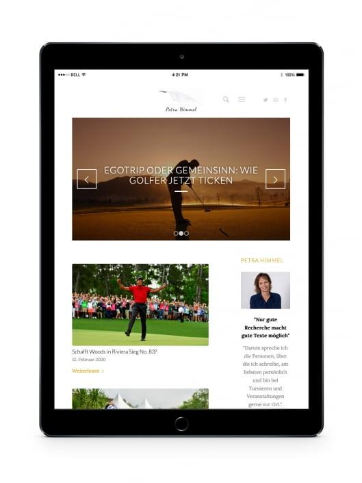 Bottega Design Referenz Illustration Webseite auf iPad für Petra Himmel