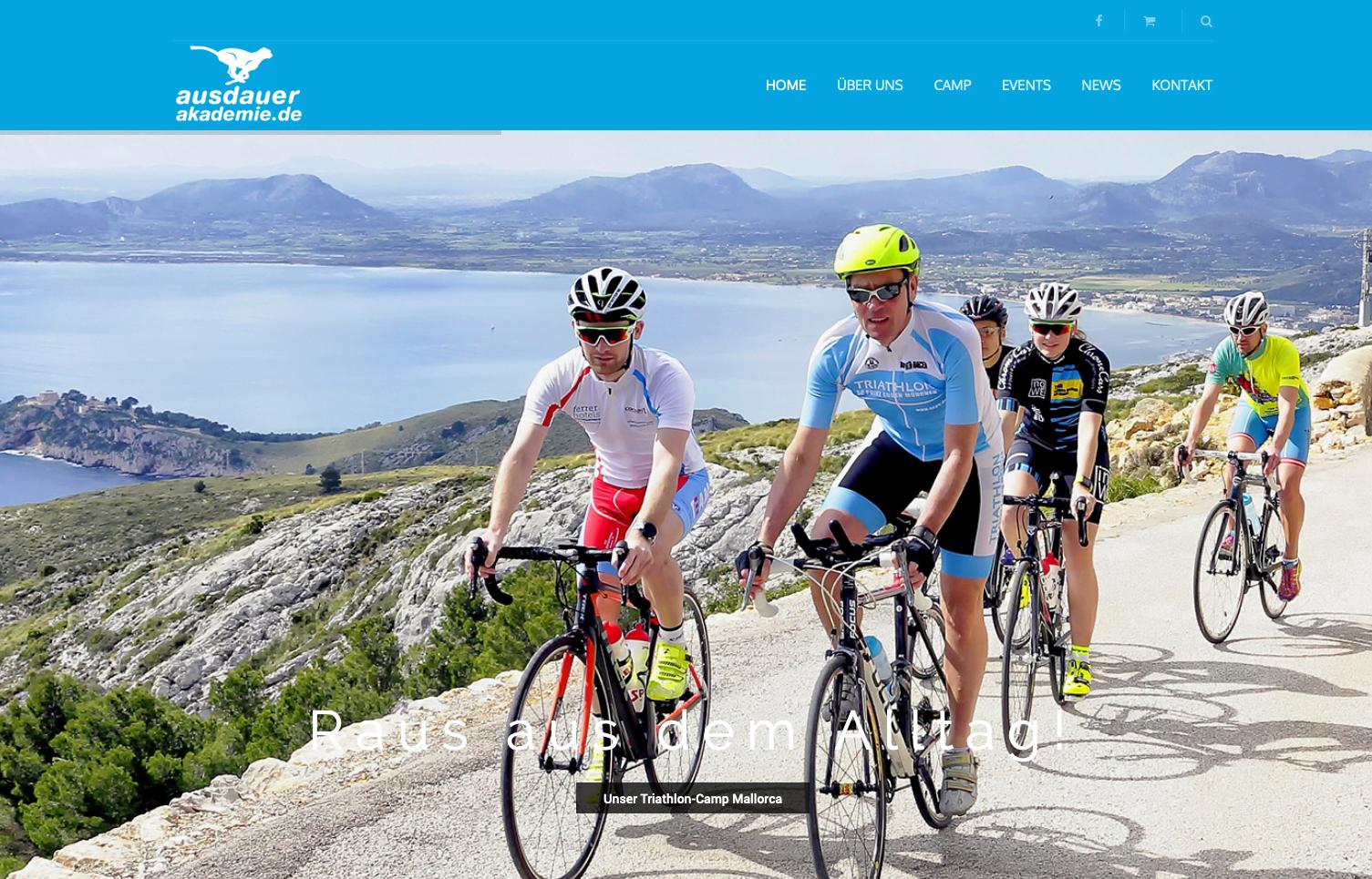 Bottega Design Referenz Illustration Webscreen für Ausdauerakademie