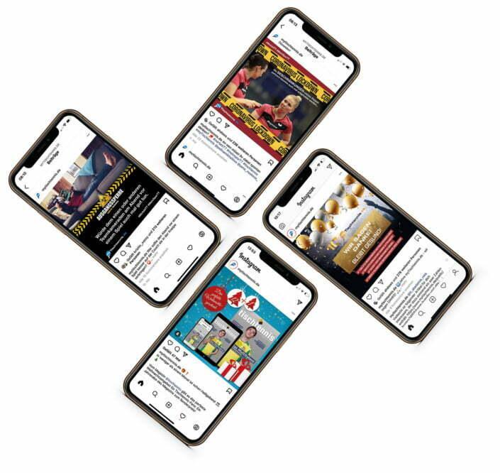 Bottega Design Referenz Illustration Webseite auf iPhone für myTischtennis.de