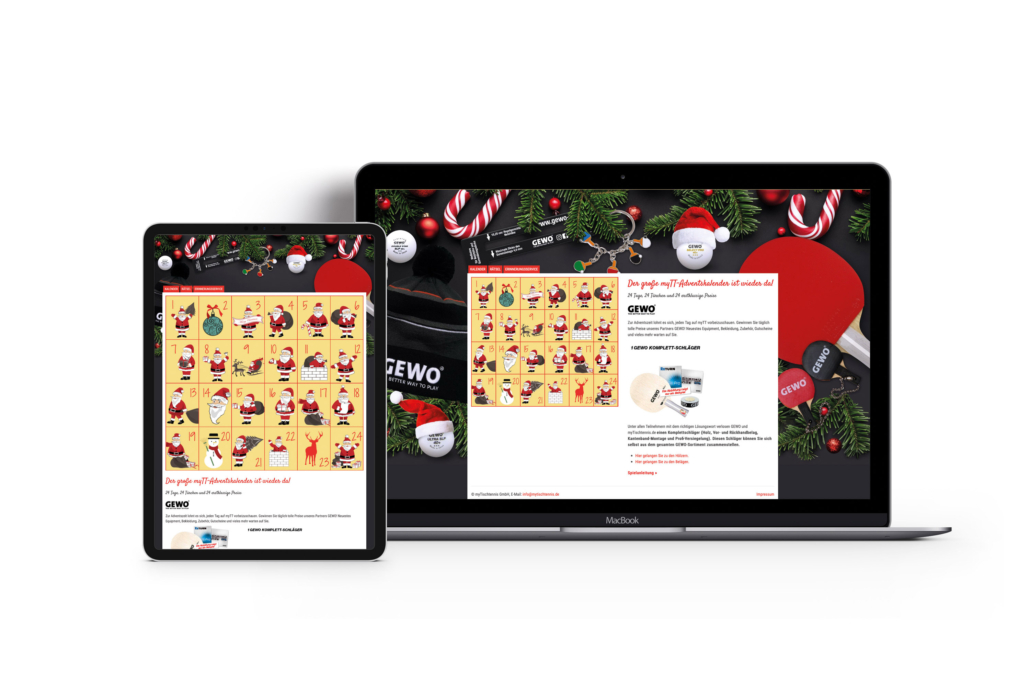 Bottega Design Referenz Illustration virtueller Adventskalender für myTT