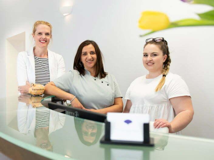 Bottega Design Referenz Bild Praxis Team der Dermatologischen Praxis Dr. Antonia Beham
